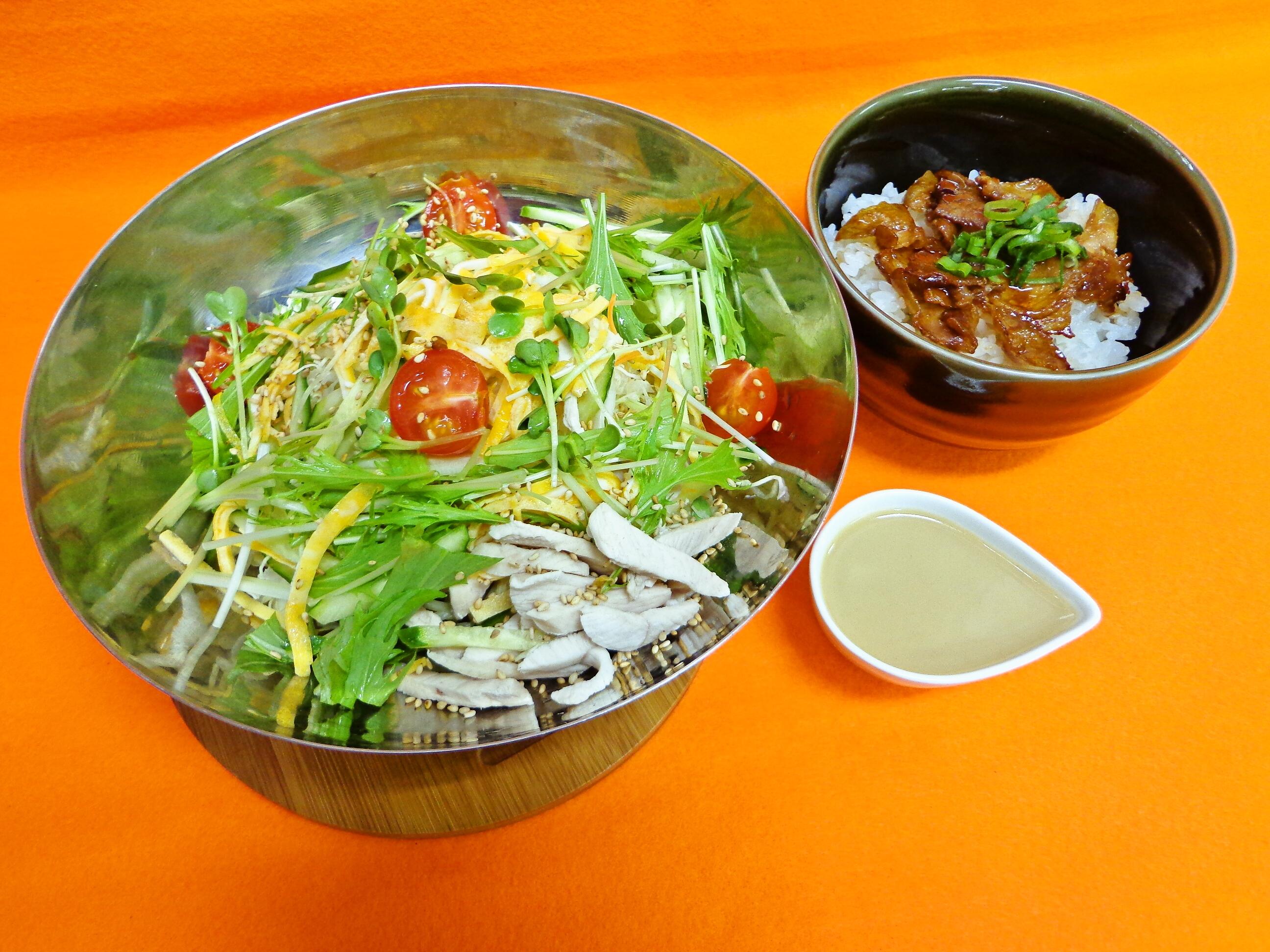 夏野菜たっぷり!胡麻たれ冷やし麺セット