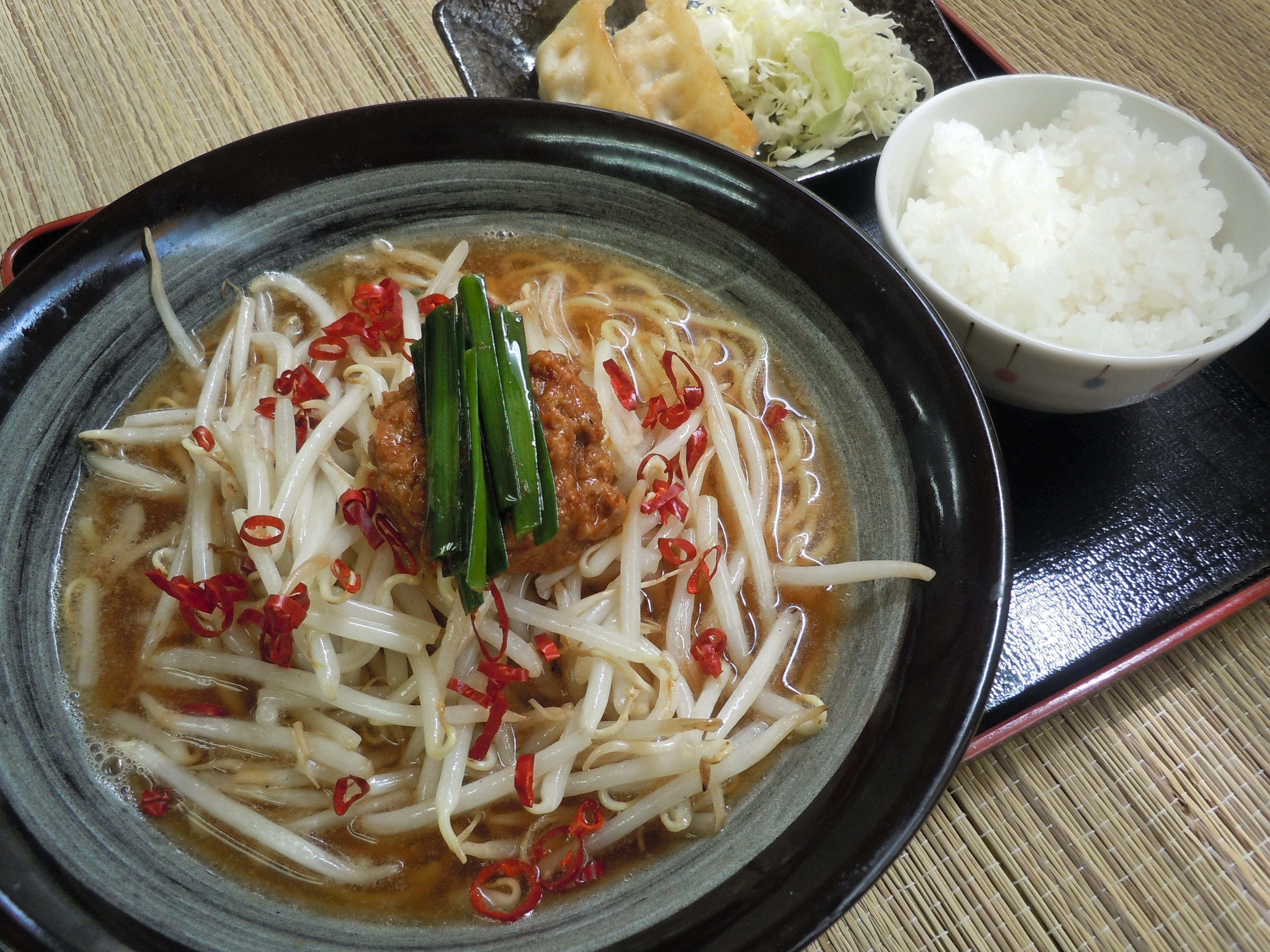 真庭坦々麺定食